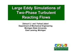 Large Eddy Simulations of Two-Phase Turbulent Reacting Flows