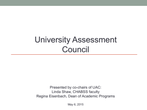 UAC Annual Activity Report for 2014-2015