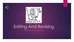 Editing and Revision Workshop