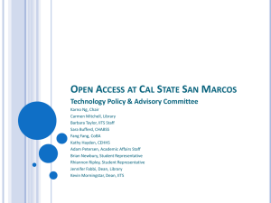 TPAC Open Access Presenation