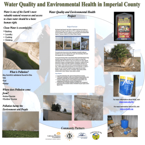 Water Quality and Environmental Health in Imperial County
