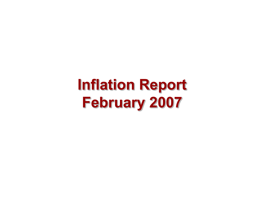 Inflation Report February 2007