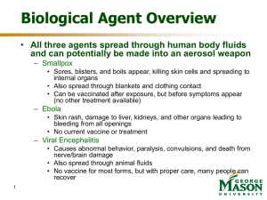 Biological Warfare Agents