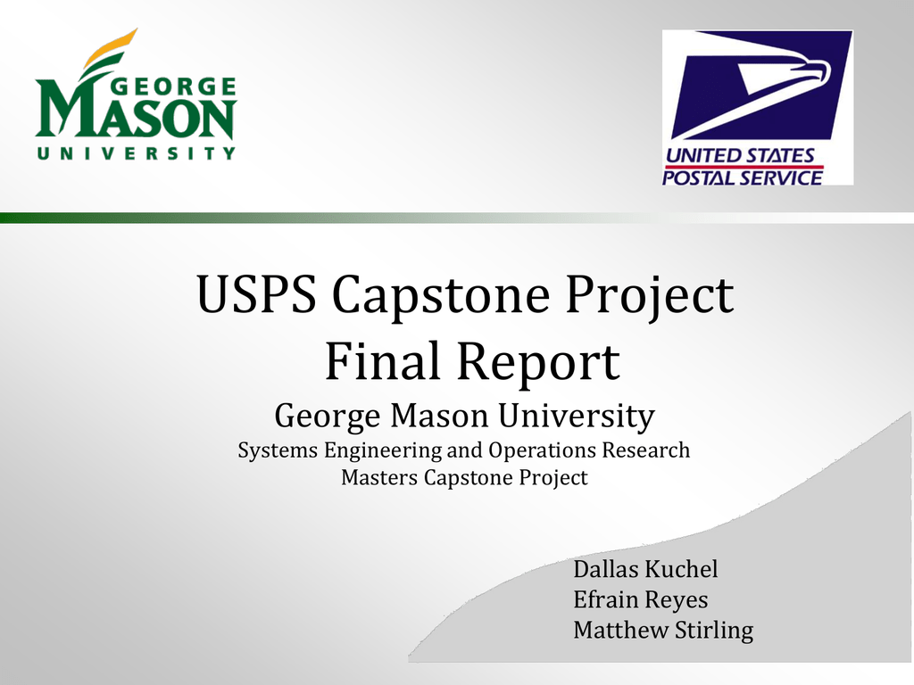 gmu capstone project