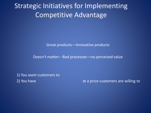 Strategic Initiatives for Competitive Advantage