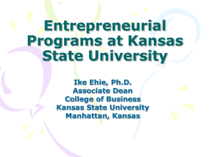 Entrepreneurial Programs at Kansas State University.ppt
