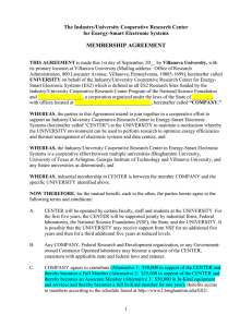 Membership Agreement