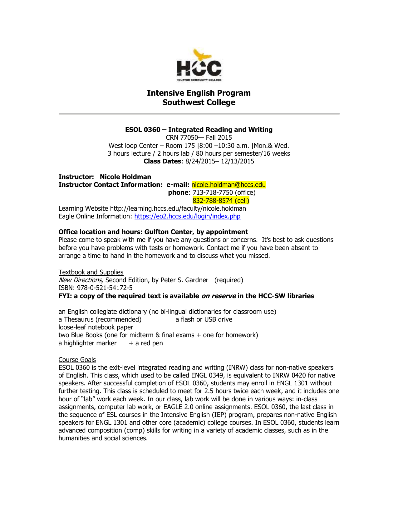 Holdman_MW fall 2015 ESOL 0360 Syl.doc