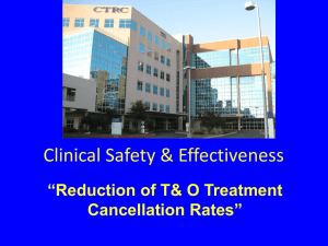 Reduction T O cancel rates