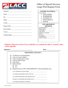 5-7 Large Print Request Form