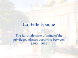 La Belle poque