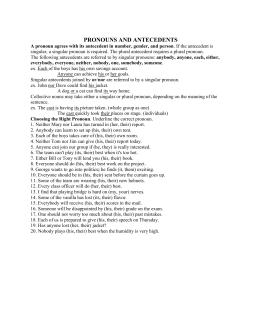 Pronoun Antecedent Agreement (revised) esol 0351.doc
