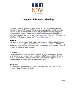 Computer Science Scholarship