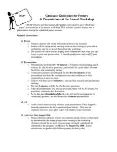 Graduate Guidelines for Posters & Presentations at the Annual Workshop