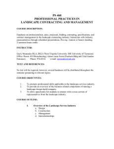 460 Professional Practices in Landscape Construction and Management