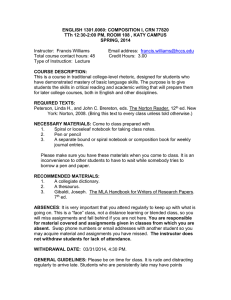HCCS 1302 Syllabus TTh Second Start Spring 2014.doc