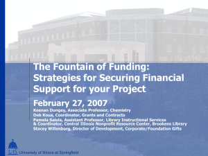 Strategies for Securing Financial Support for You Project with Chemistry Perspective