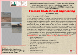 Workshop on Forensic Geotechnical Engineering