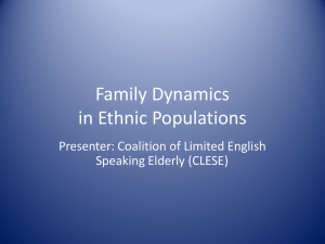 Family Dynamics in Ethnic Populations