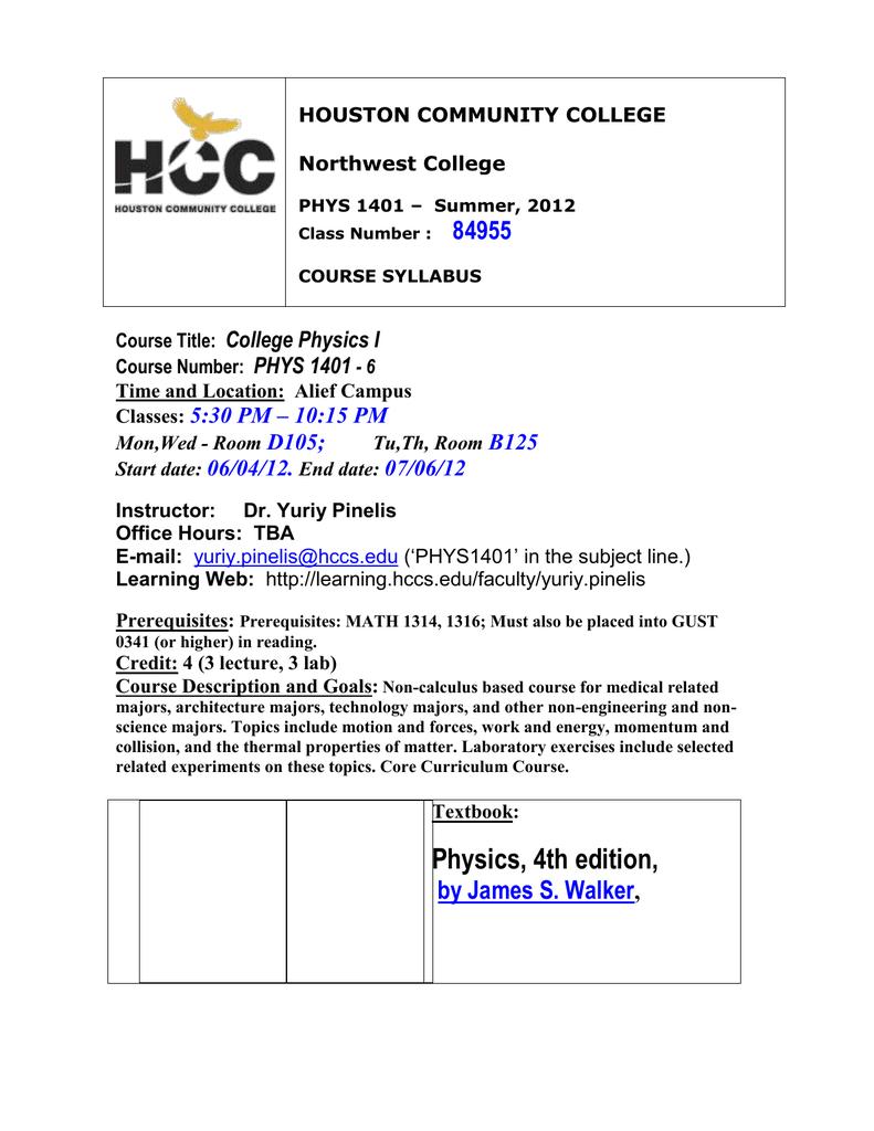 Physics 1401 - Syllabus_Summer 12_.doc