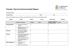 Faculty / Service environmental report template - opens in a new browser window