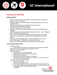 Faculty-Led Checklist