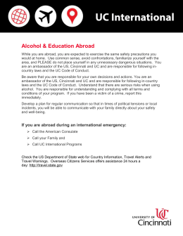 Alcohol & Education Abroad