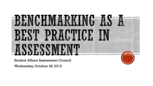 Utilizing Benchmarking as an Assessment Practice: October 28, 2015