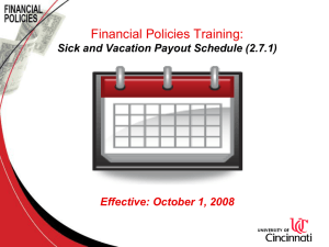 Sick and Vacation Payout Schedule Policy