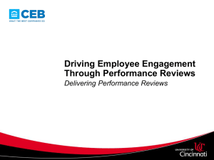 Training Presentation: Delivering Performance Reviews