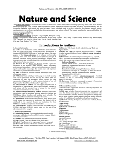 Nature and Science Nature and Science,