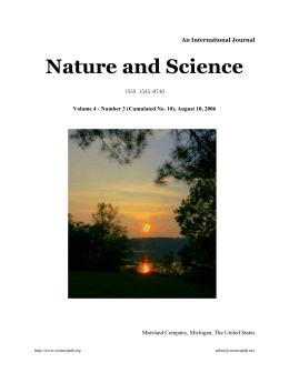 Nature and Science An International Journal