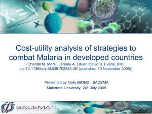 Cost-utility analysis of strategies to combat Malaria in developed countries