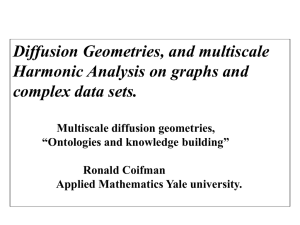 Diffusion Geometries, and Multiscale Harmonic Analysis on Graphs and Complex Data Sets