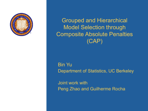 Grouped and Hierarchical Model Selection through Composite Absolute Penalties (CAP)