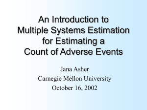 An Introduction to Multiple Systems Estimation for Estimating a Count of Adverse Events