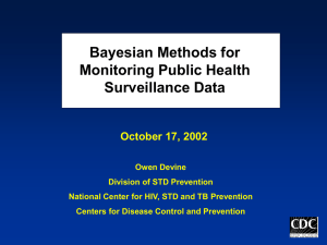 Bayesian Methods for Monitoring Public Health Surveillance Data October 17, 2002