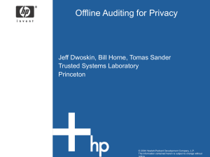 Offline Auditing for Privacy