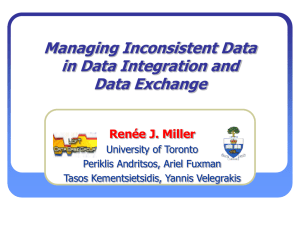 Managing Inconsistency in Data Exchange and Integration