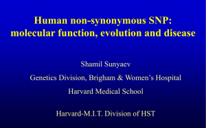 Human non-synonymous SNPs: molecular function, evolution and disease
