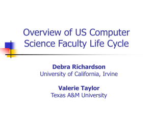 Overview of US Computer Science Faculty Life Cycle