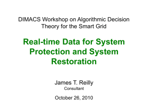 Real-time Data for System Protection and System Restoration
