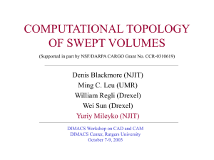 Computational Topology of Swept Volumes