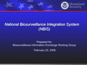 National Biosurveillance Integration System Overview