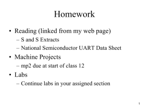 Homework • Reading (linked from my web page) • Machine Projects • Labs