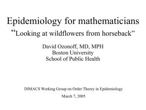 Superquick Tutorial on Epidemiology for Mathematicians