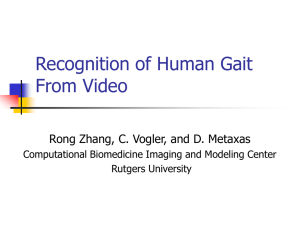 Recognition of Human Gait from Video