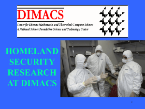 Homeland Security Research at DIMACS: Monitoring Message Streams