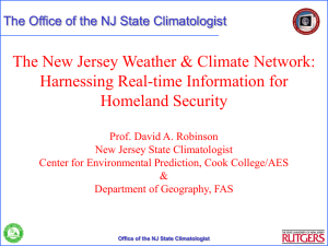 The New Jersey Weather and Climate Network: