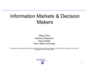 Information Markets and Decision Makers
